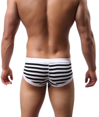 Voberry Men's Sexy Stripe Boxer Brief Review